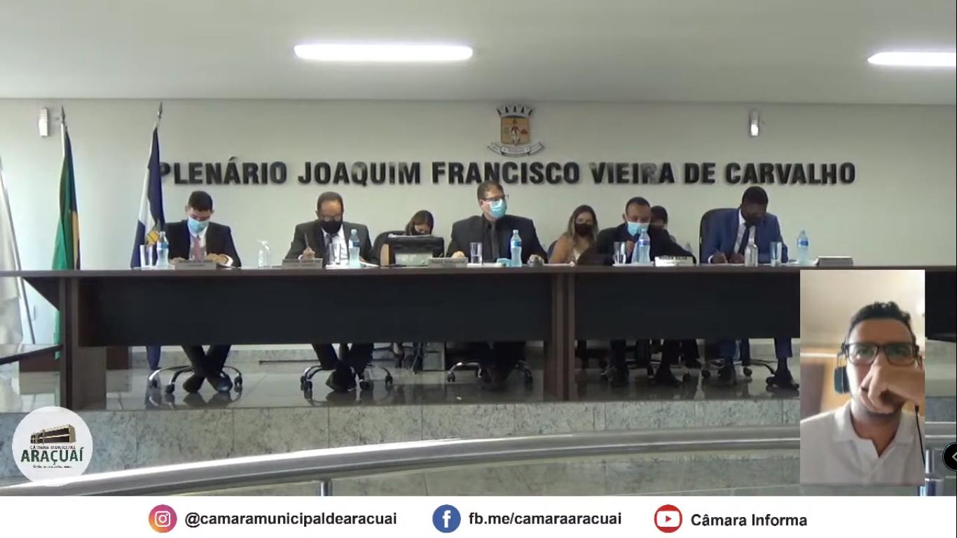 Transmissão AO VIVO - Câmara Municipal de Araçuaí - Reunião Extraordinária 17/03/2021